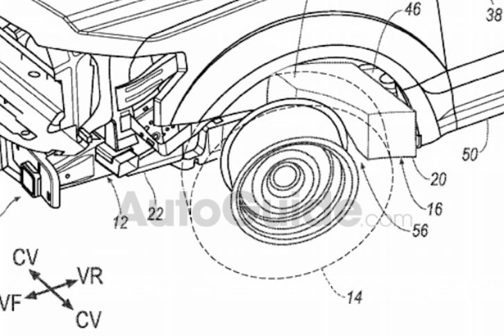Ford's new wheel airbag patent mock-up.