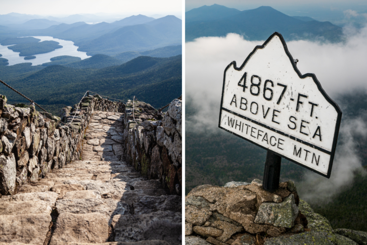 Views of New York at the summit of Whiteface Mountain.