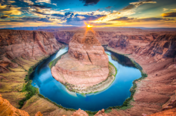 Horseshoe Bend in Arizona.