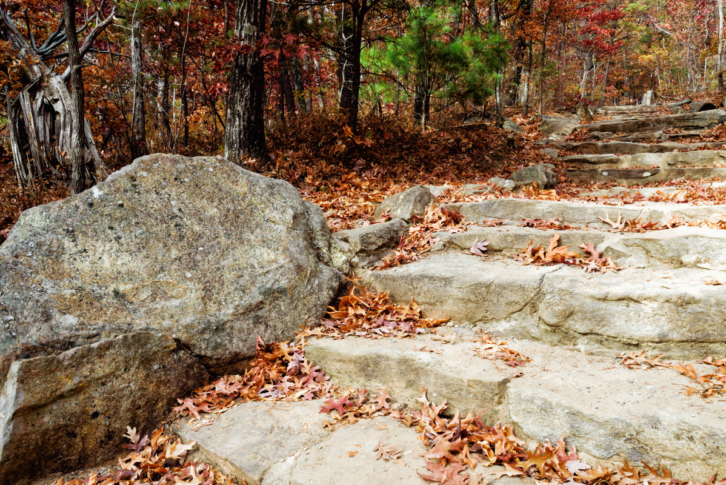 Stone footpath at Georgia's Fort Mountain State Park.